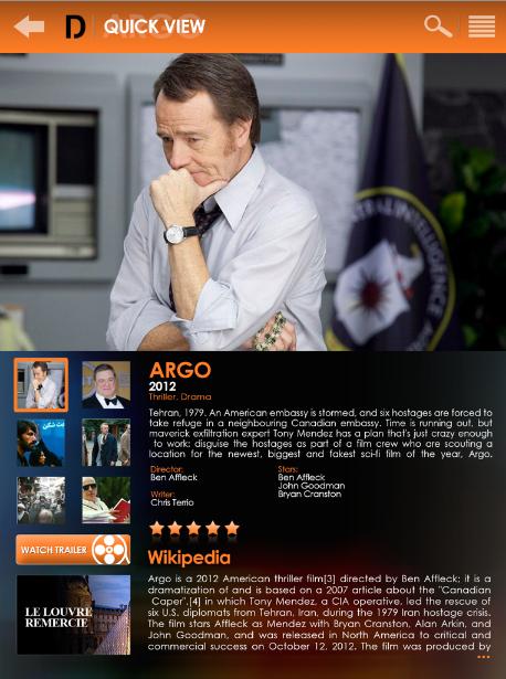 DEEP - Argo, the Oscars Best Picture Award winner