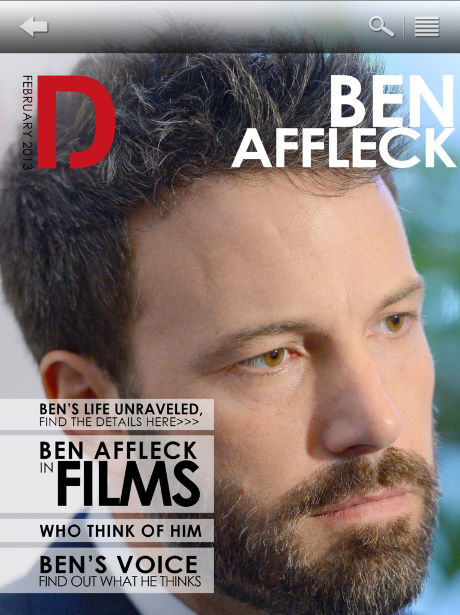 DEEP - Ben Aflect, from Argo, the Oscars Best Picture Award winner